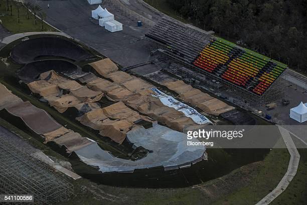 The Deodoro Stadium a 2016 Summer Olympics outdoor venue is seen in this aerial photograph taken above Rio de Janeiro Brazil on Friday June 17 2016...