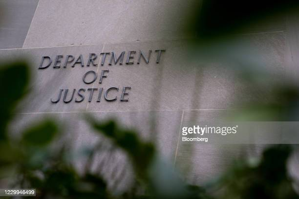The Department of Justice building in Washington, D.C., U.S., on Friday, Dec. 4, 2020. Prospects for a pandemic relief package before the end of the...