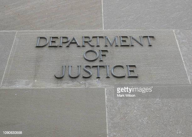 The Department of Justice is seen on January 28 2019 in Washington DC Last Friday President Donald Trump signed a temporary measure to reopen the US...