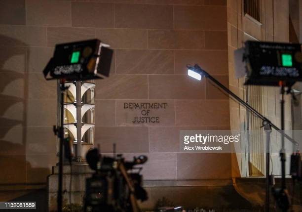 The Department of Justice is seen on March 22 2019 in Washington DC Robert Mueller submitted his Russia probe report on Friday afternoon to Attorney...