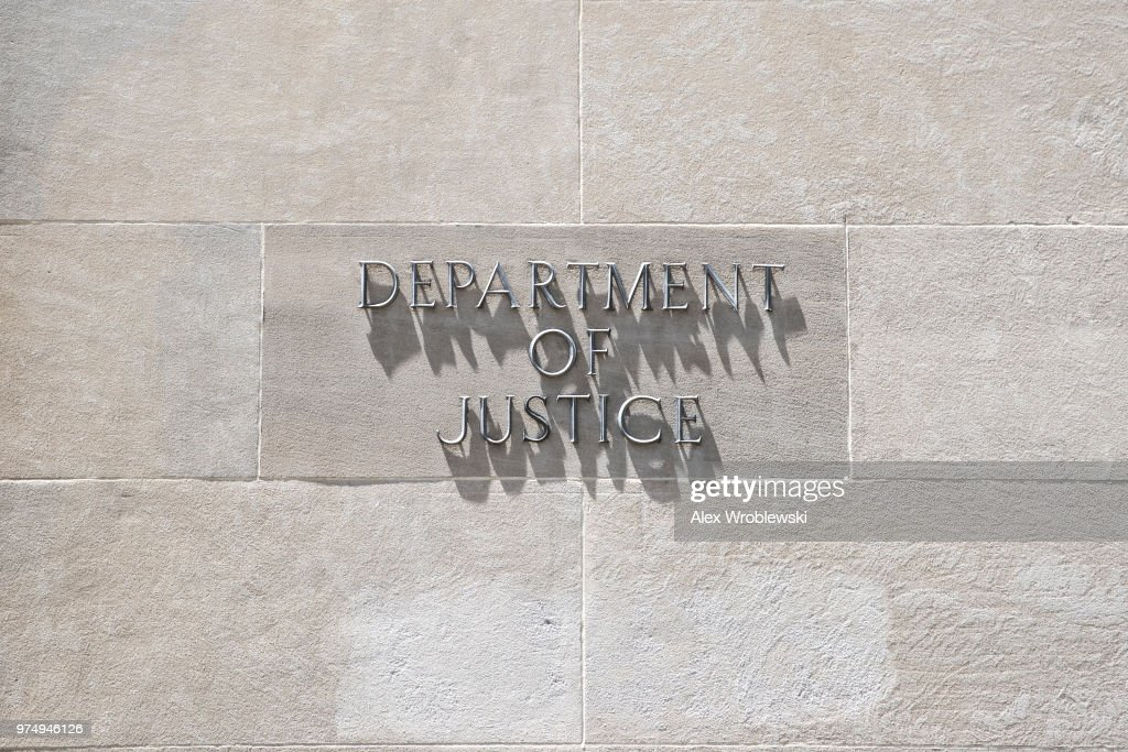 The Department of Justice on June 14, 2018 in Washington, DC. The inspector general released a report Thursday about a series of failures by officials in charge of the investigation.
