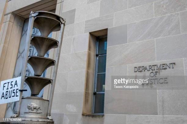 The Department of Justice on March 22 2019 in Washington DC Special counsel Robert Mueller has delivered his report on alleged Russian meddling in...