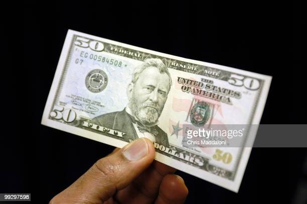 The Department of the Treasury and the Federal Reserve unveilled the new design for the 50 dollar bill It has new security designs to prevent...