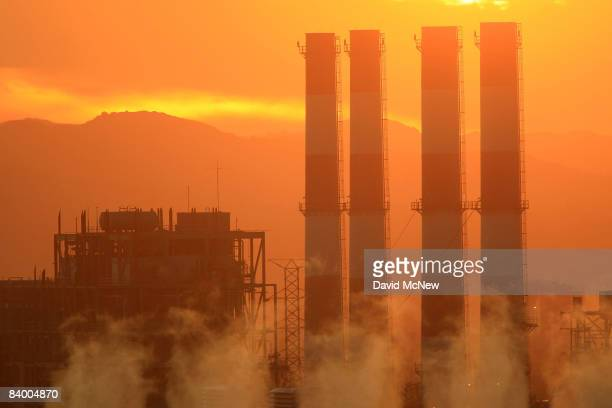 The Department of Water and Power San Fernando Valley Generating Station is seen December 11, 2008 in Sun Valley, California. Under a new climate...