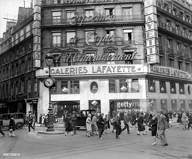The department store Les Galeries Lafayette in 1928 in Paris France
