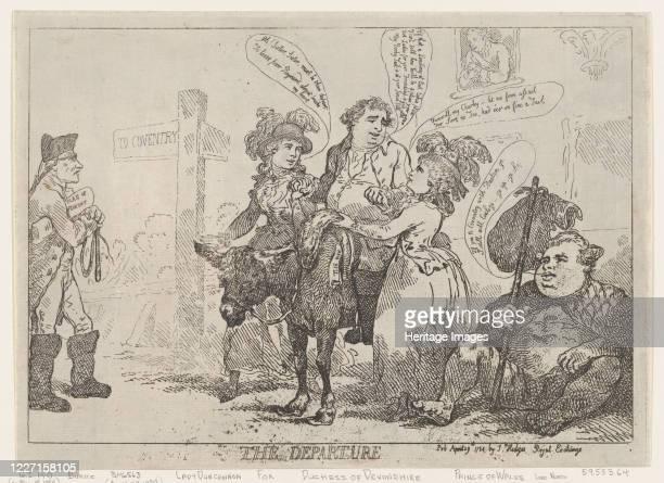 The Departure April 29 1784 Artist Thomas Rowlandson