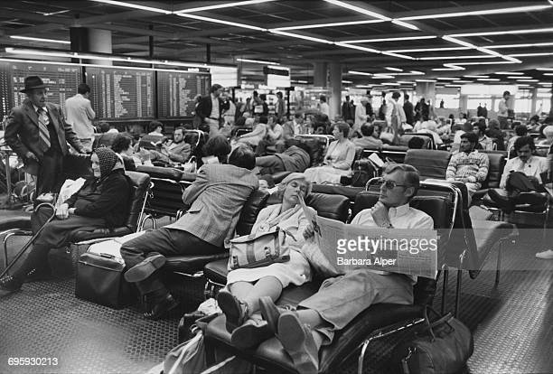 The departure lounge at Frankfurt Airport Germany July 1980