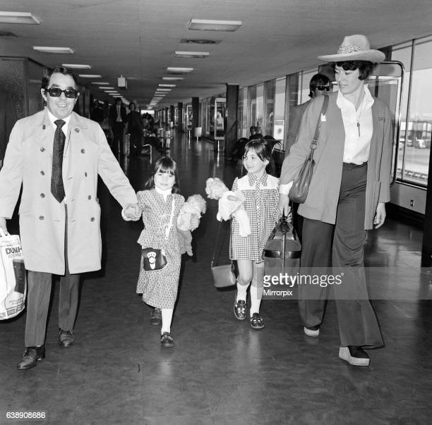 The departure of Ronnie Corbett and his wife Anne with daughters Sophie, 5 and Emma, 6 for Marbella in Spain, where they will be for a two week...