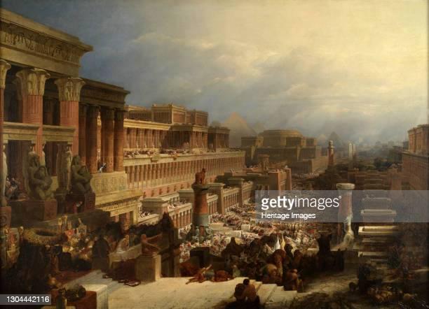 The Departure of the Israelites, 1829Artist David Roberts.
