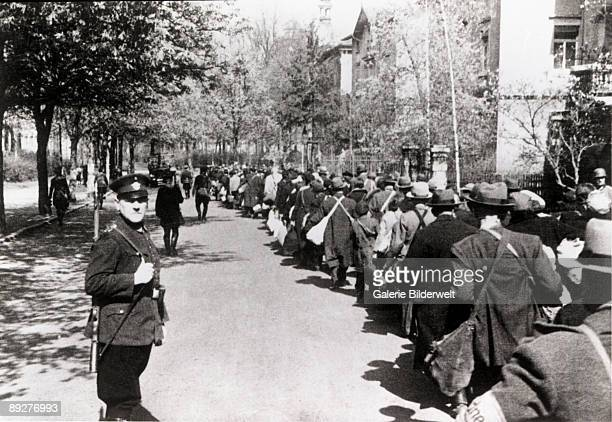 The deportation of the Jews of Wurzburg by the local police force Germany 27th November 1941