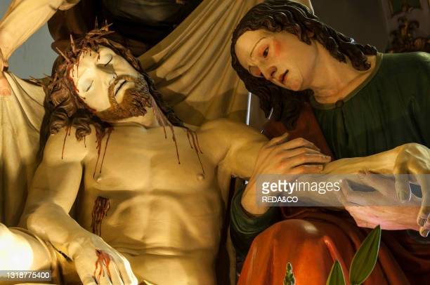 The deposition of Christ in the sepulcher by Antonio Brilla Confraternity of the Risen Christ.The Good Friday Procession in Savona is a religious...