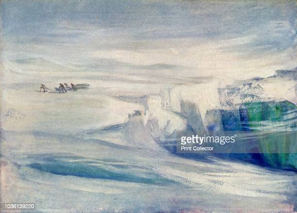 The Depot Party Amongst Crevasses' circa 1908 AngloIrish explorer Ernest Shackleton made three expeditions to the Antarctic During the second...