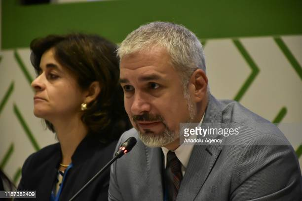 The Deputy Director General for Culture of Unesco Ernesto Ottone speaks during the inaugural press conference of 14th session of the...