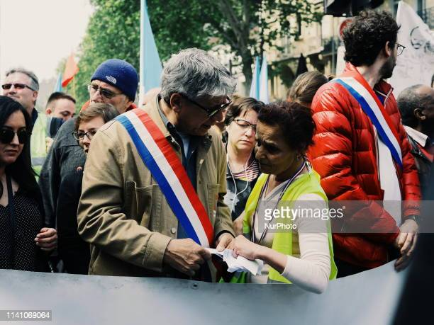 the deputy Eric Coquerel at the quotmay dayquot demonstration in Paris More than 30000 gather in the downtown of Paris from place de Montparnasse to...