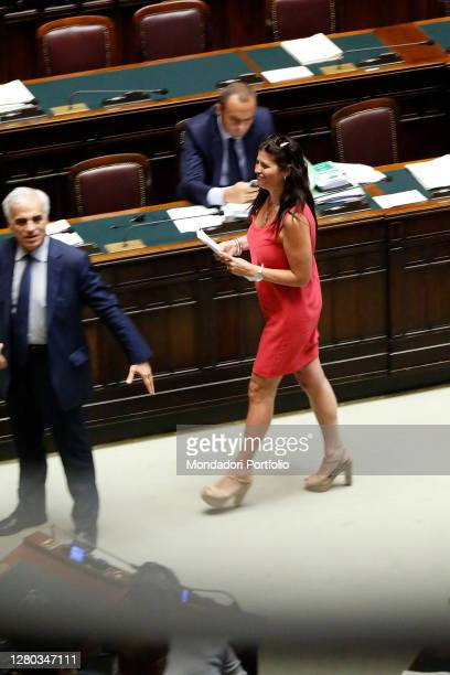 The deputy Jole Santinelli in the Chamber of Deputies during the continuation of the discussion of the bill concerning the amendments to the criminal...