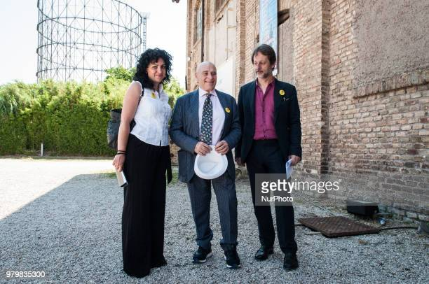 The Deputy Mayor in charge of Cultural Growth Luca Bergamo and the President of the Cultural Commission Eleonora Guadagno with the singer author and...