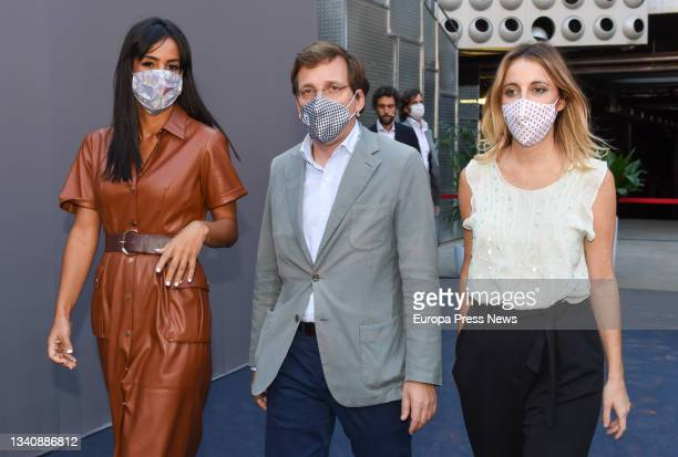 The Deputy Mayor of Madrid and member of the Cs Standing Committee, Begoña Villacis; the Mayor of Madrid, Jose Luis Martinez-Almeida; and the...