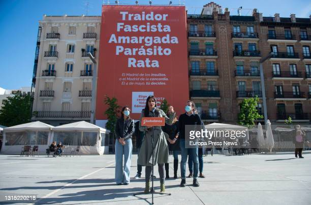 The deputy mayor of Madrid, Begoña Villacis, with the president of Ciudadanos , Ines Arrimadas ; the 'number 3' of the party for the elections to the...
