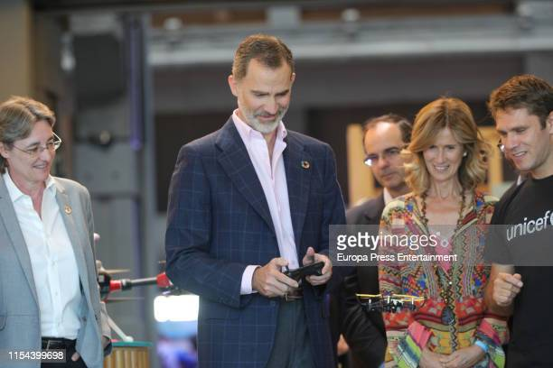 The deputy mayor of Madrid, Marta Higueras , King Felipe VI and the president of COTEC, Cristina Garmendia , attend the inauguration of...