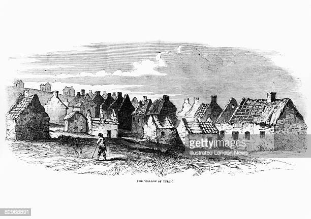 The derelict village of Tullig Ireland 1849 Original publication Illustrated London News 15th December 1849
