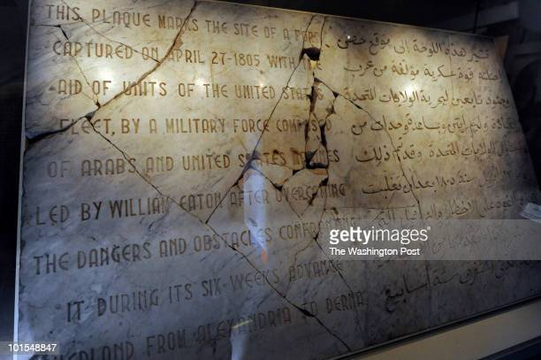 TRIANGLE VA MAY 25 The Derna Plaque is part of Defending the New Republic 1775 1865 display at the National Museum of the Marine Corps museum on May...
