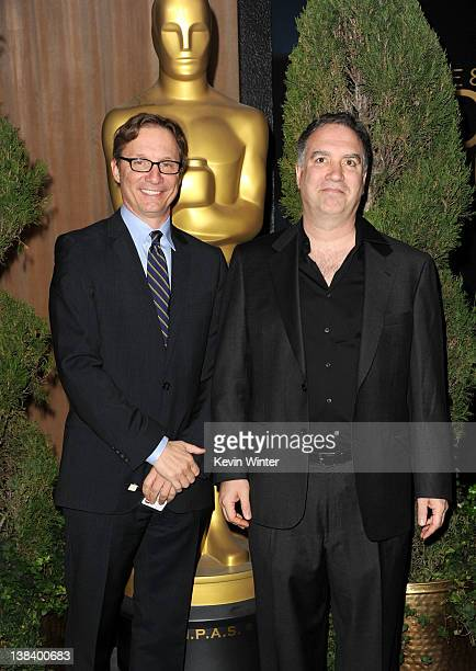 The Descendants Producers Jim Burke and Jim Taylor arrive at the 84th Academy Awards Nominations Luncheon at The Beverly Hilton hotel on February 6...