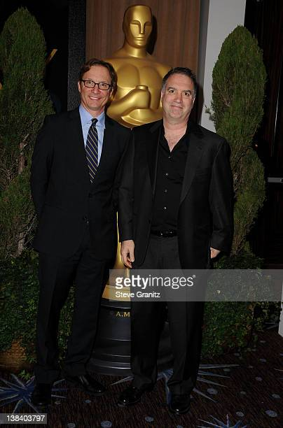 The Descendants Producers Jim Burke and Jim Taylor arrive at the 84th Annual Academy Awards Nominees Luncheon at The Beverly Hilton hotel on February...