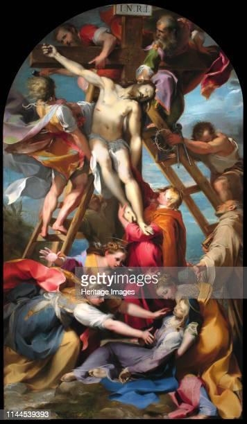 The Descent from the Cross 1569 Found in the Collection of Cattedrale di San Lorenzo Perugia Artist Barocci Federigo