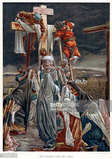 'The Descent from the Cross' c1890 When he was dead Christ was taken down from the cross on which he was crucified and his body handed over to his...