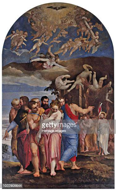 The Descent of Christ into Limbo and the Liberation of Souls in Purgatory. Found in the Collection of Duomo di Castelfranco Veneto.