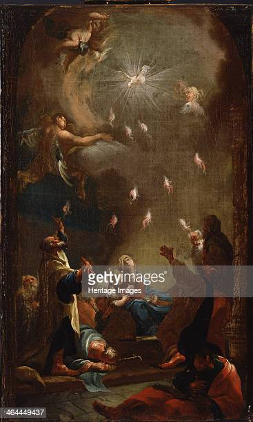 The descent of the Holy Spirit c 1750 Found in the collection of the Magyar Nemzeti Galéria