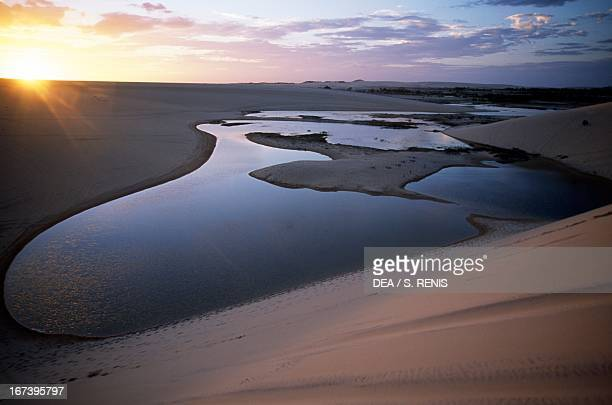 The desert area with dunes and lagoons known as the Oasis near Canoa Quebrada State of Ceara Brazil