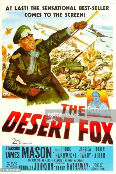 The Desert Fox, poster, , James Mason, 1951.