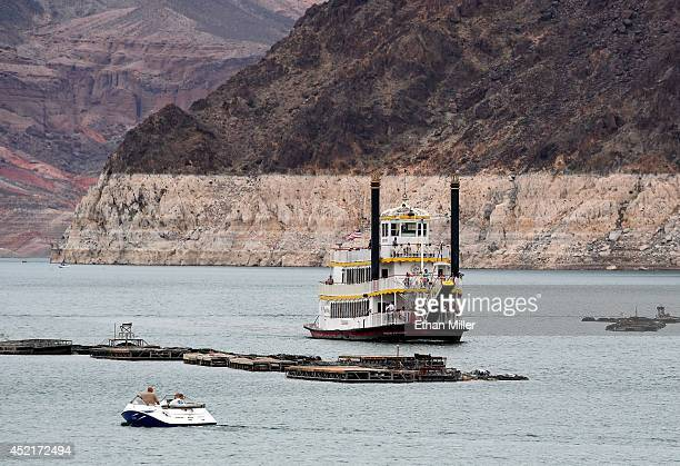 The Desert Princess paddle wheeler docks at a marina on July 14 2014 in the Lake Mead National Recreation Area Nevada Last week North America's...