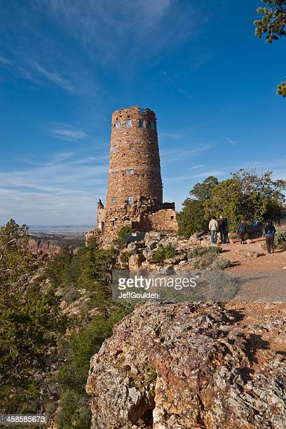 Tourists and the Desert View Watchtower
