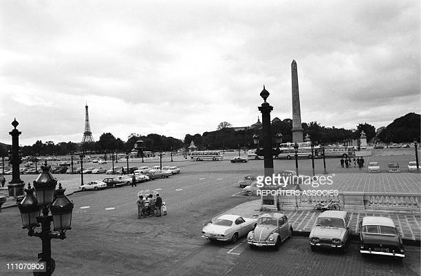 The deserted Concorde square at the Olympia in Paris France on August 15 1967