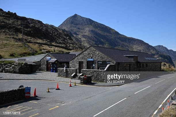 The deserted facilities are pictured at Pen-y-Pass, the closest car park to Mount Snowdon, in north Wales on April 5, 2020 as the warm weather tests...