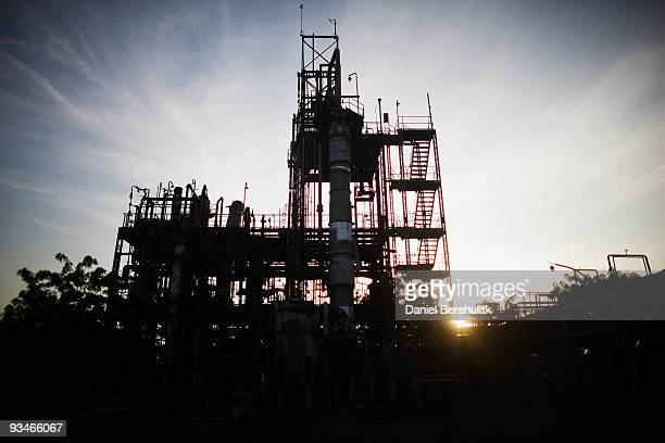 The deserted structure of the Union Carbide factory is pictured on November 28 2009 in Bhopal India Twentyfive years after an explosion causing a...