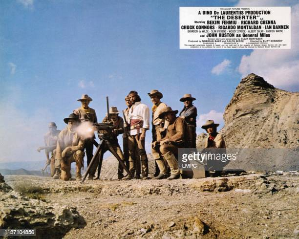 The Deserter, lobbycard, Chuck Connors , Bekim Fehmiu, Ian Bannen, Slim Pickens , Ricardo Montalban , Brandon De Wilde , 1971.
