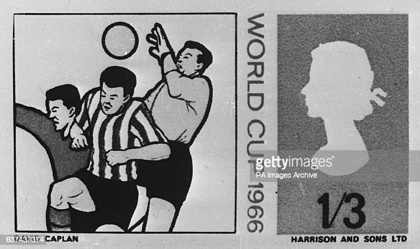 The design for one of the official World Cup stamps