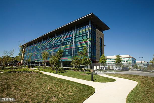 The design of the J Craig Venter Institute is supposed to resemble the color coded markings of scientist's symbols of the human genome on September...