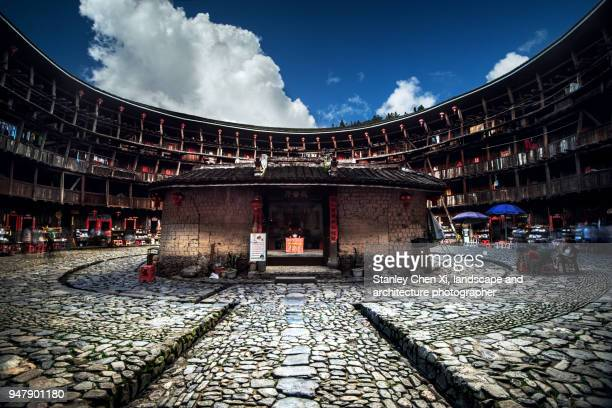 the design of tulou - fujian tulou stock pictures, royalty-free photos & images