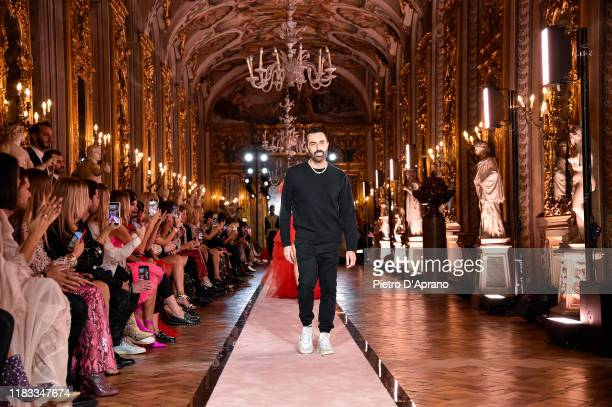 The designer Giambattista Valli walks the runway during the Giambattista Valli Loves H&M show on October 24, 2019 in Rome, Italy.
