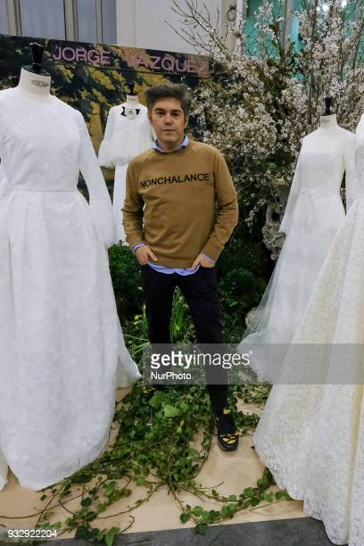 the designer Jorge Vazquez attends the inauguration of the 1001 weddings in the gallery of critics of the cibeles palace in Madrid Spain March 16 2018