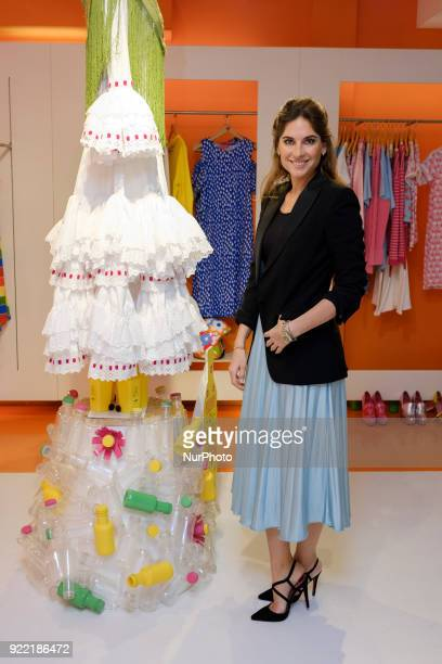 the designer Lourdes Montes presents the collection of flamenco dresses Miabril 21 2018 in Madrid Spain