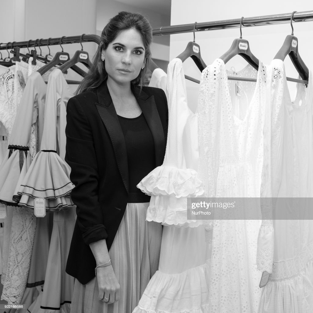 the designer Lourdes Montes presents the collection of flamenco dresses Miabril. 21, 2018 in Madrid, Spain