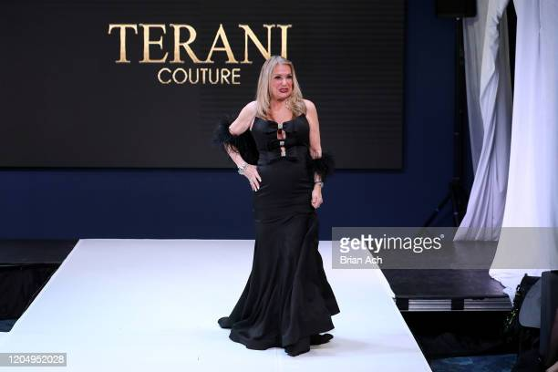 The designer walks the runway for Bebe's and Liz's presents TERANI Couture during NYFW Powered By hiTechMODA on February 08, 2020 in New York City.