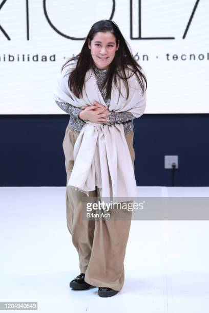 The designer walks the runway for EILEAN during NYFW Powered By hiTechMODA on February 08, 2020 in New York City.
