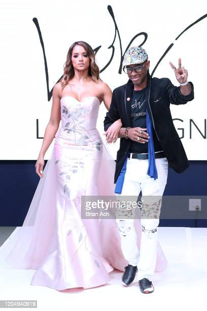 The designer walks the runway for LOKI Designz during NYFW Powered By hiTechMODA on February 08, 2020 in New York City.