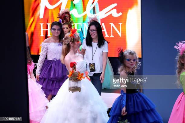 The designer walks the runway for Mila Hoffman Couture during NYFW Powered By hiTechMODA on February 08 2020 in New York City